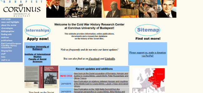 Photo: Homepage (c) Cold War History Research Center (Budapest)